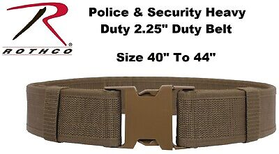 """Coyote Size 40"""" To 44"""" Police Security Military Tactical Duty Belt 10571 Rothco"""