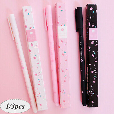 Cute Japanese Sakura Gel Ink Pen Roller-ball Pen Office Supply Stationery Black