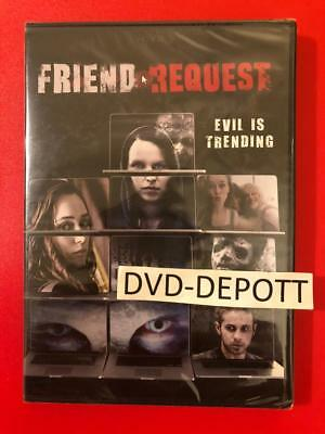 Friend Request DVD AUTHENTIC Brand New FAST Free Shipping With tracking no tax