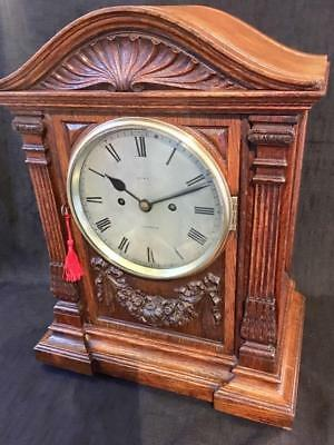 Antique bracket clock signed Dent London double fusee