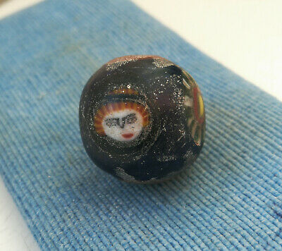 An ancient large glass bead jewelry Kievan Rus Vikings 10 AD Absolute Rare color