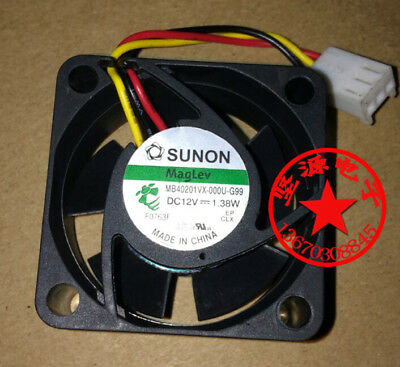 1pcs SUNON MB40201VX-000U-G99 DC12V 1.38W 40*40*20MM 3pin Cooling fan #MA56 QL