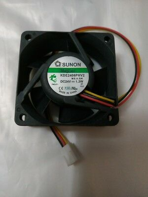 1pcs SUNON KDE2406PHV2 6015 24V 1.3W 3pin cooling Fan #MY25 QL YH1