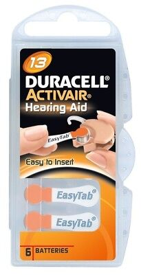 60 x Duracell Battery for Hearing Aid Typ 13 PR48 ZL2