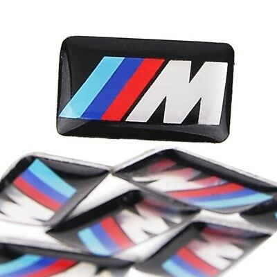 LOTTO 2 EMBLEMI M POWER BMW ADESIVO STICKER STERZO CERCHI Resinato 3D F30 X1 X2