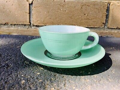 Vintage Retro Glass Cup & Saucer Made in French Classic