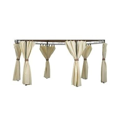 SIDE PANEL/CURTAIN SET ONLY for Camelot CAM0439 3.5m Regency Round Patio Gazebo