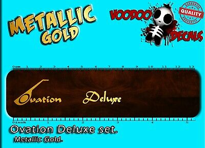 Ovation Deluxe SET (ALL GOLD) Guitar Headstock Waterslide decal
