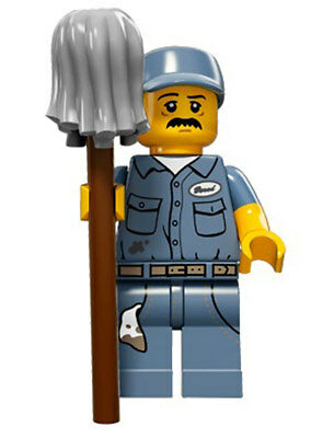Lego Minifigure - ( Janitor ) -  Series 15 NEW Collectible   71011