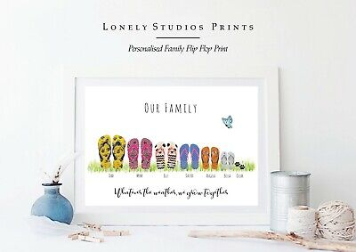 544ded93184d79 PERSONALISED FLIP FLOP Family Print! Personalised family print! Flip ...