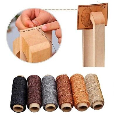 30m/roll 150D Hand Stitching Flat DIY Cord Waxed Thread Sewing Line Leather