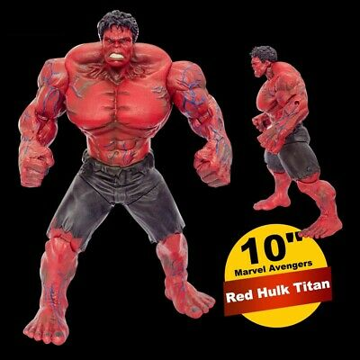 "10"" Marvel Avengers Red Hulk Titan Super Hero Incredible Action Figure Toy"