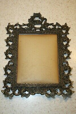 Antique Vintage Brass Bronze Metal Victorian Ornate Picture Frame 8 x 10