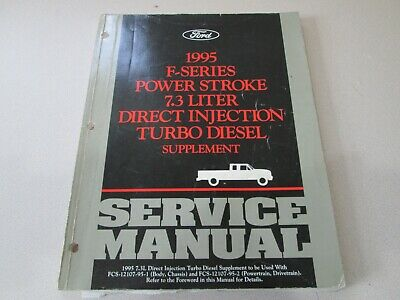 1995 Ford F-Series Power Stroke Turbo Diesel Truck Service Manual Supplement 95