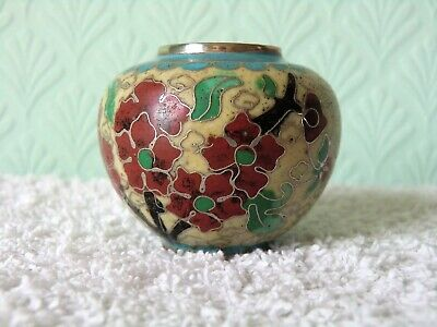 Small Vintage Cloisonne Pot. Chinese?