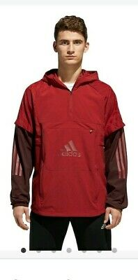 NWT Men's Adidas Athletic ID Woven Shell Anorak Jacket Hoodie Size XXL DH9050