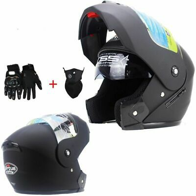 Motorcycle Helmet With Inner Sun Visor Flip Up Full Face Moto Helmet Motocross