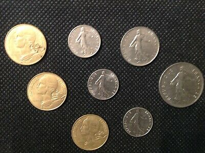Full Set of Pre-Euro French Coins French Coin Lot Free Shipping!!!!
