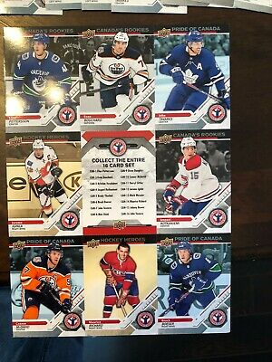 2019 upper deck national hockey card day sheets all four for 40 total