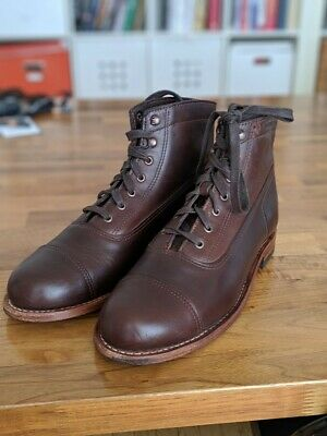 39013bd57c6 PREOWN WOLVERINE 1000 Mile Cap-Toe Rockford Boot Brown W05293 Size 8.5 D  $365