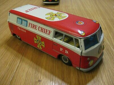 VW Bulli Bus Fire Chief Taiyo Japan selten