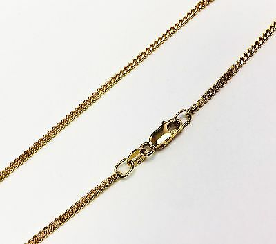 """14k solid yellow gold(1.4mm)Italian Venetian curb chain(up to 28""""inch)"""