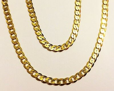 """14k solid yellow gold(3mm)solid Curb chain(up to 40""""inch)"""