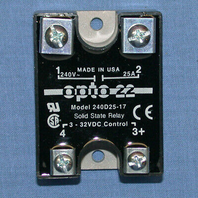 Opto 22, 240D25-17,  Solid State Relay, 25A, 240V, Panel Mount