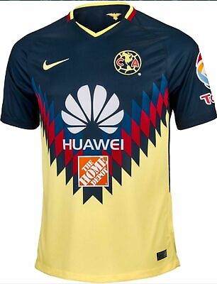 13e0999179 Men s 2017 Nike Club America Soccer Home Jersey  847306-455 Size Small
