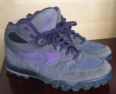 new arrival be2f8 02d6d Vtg 80s 90s Nike Caldera Hiking Trail Boots Purple Size 7.5 Excellent