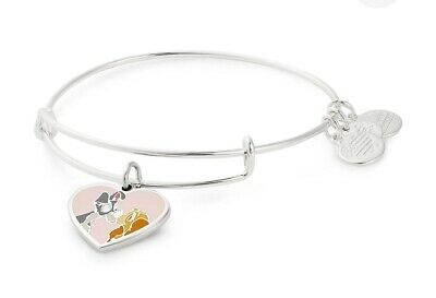 Disney Parks Exclusive Alex and Ani Bracelet Silver Lady and the Tramp NEW