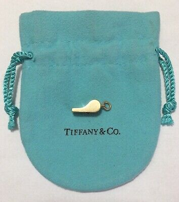 5c0522feb *RARE* Retired TIFFANY & CO. 14k Gold Miniature Whistle Charm With Pouch