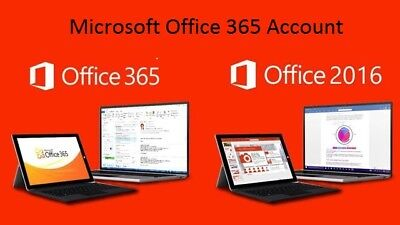Microsoft Office 365 2016 5 Devices Genuine License Account Windows and Mac