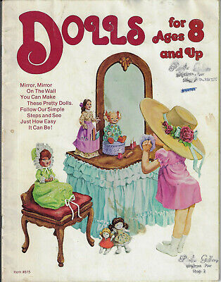 Dolls for Ages 8 & Up sewing pattern book 7 designs