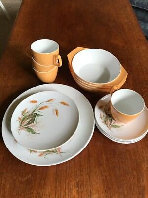 Vintage 1950's Hollywood by Tamco Melmac 20 Piece Picnic Set Wheat Design