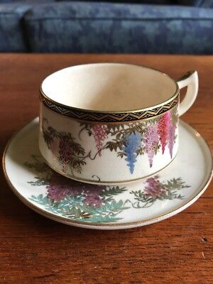 Vintage Collectable Satsuma Cup and Saucer Japanese Pottery