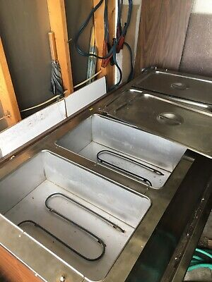 electric steam table , food warmer 4 pans