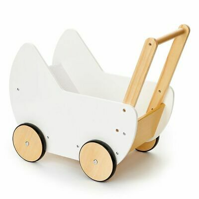 NEW Wooden Doll Pram