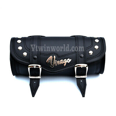 S) Yamaha VIRAGO Leather Pouch Tool Roll Bag XV125 250 xv700 xv750, 1000, xv1100