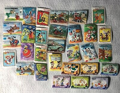 Grenada Redonda Dominica Union Island Disney Stamps Lot
