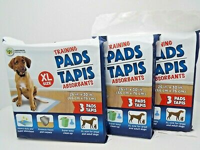 3 Super Absorbent Puppy Training Pads Heavy Duty and XL 26 x 30 Inch (3-Pack)