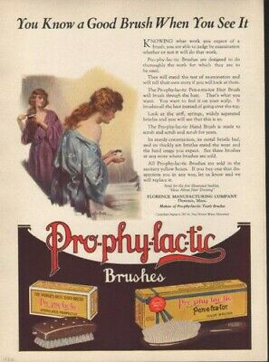 1922 Prophylactic Nightie Ralph Hair Brush Dress Bath  7473