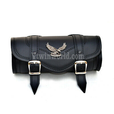 Sp Kawasaki Black Leather Pouch Tool Roll Bag VN800 VN900 VN1500 VN1600 vn2000