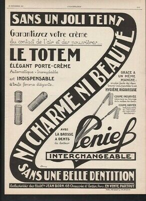 1927 Lenief Interchangeable Tooth Brush Dental Hygiene Health French 21454