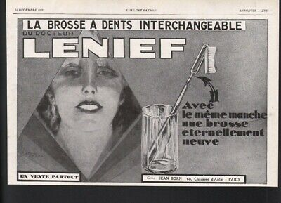 1929 Lenief Interchangeable Tooth Brush Head Paste Dental Hygiene Doctor  21726