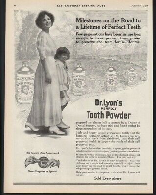 1912 Dr Lyon Tooth Paste Dental Hygiene Dentist Teeth Surgery Health A21979