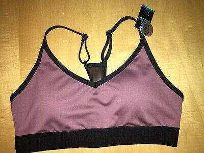 aba89ce3b9 Victoria s Secret PINK Ultimate Lightly Lined Sports Bra Sz M Cocoa Powder  NWT