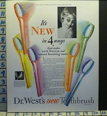 1928 Dr West Tooth Brush Paste Dental Hygiene Dentist Health   H59