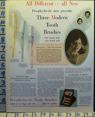 1928 Prophylactic Hygiene Tooth Brush Bathroom Dentist Teeth Health Ad  H4