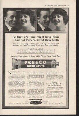 1916 Pebeco Tooth Paste Decay Hygiene Brush Gingivitis12989